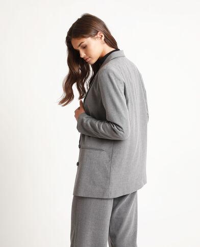 Oversized blazer gemêleerd grijs
