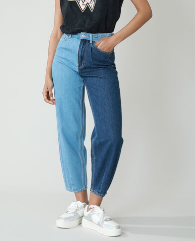 Slouchy jeans met hoge taille denimblauw - Pimkie