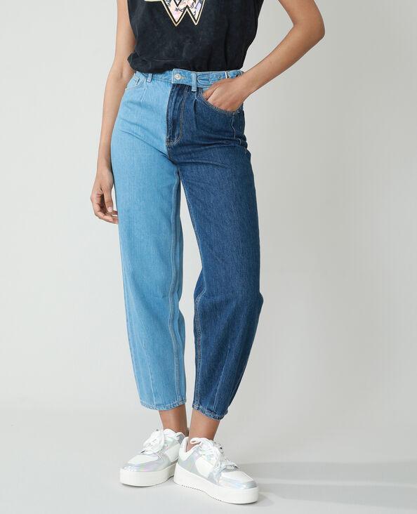 Slouchy jeans met hoge taille denimblauw - Pimkie