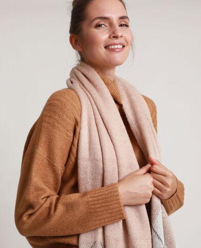Sjaal met ruiten roze
