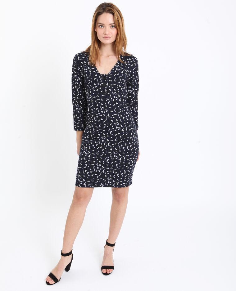 Robe midi léopard bleu