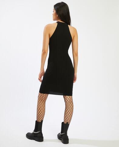 Halflange, nauwsluitende jurk zwart - Pimkie