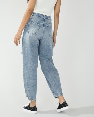 Jean slouchy high waist bleu clair