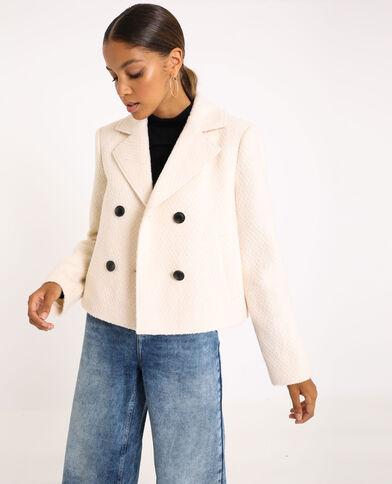 Korte jas gebroken wit