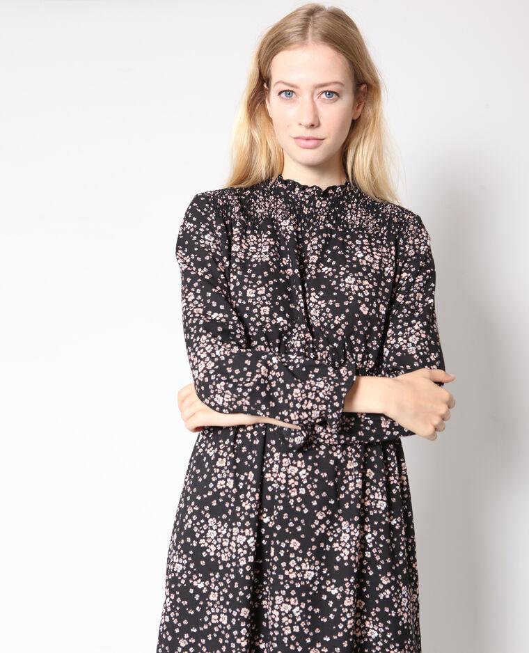 a5df0fbd2f72f8 Lange jurk met bloemenprint zwart - 780927899E08