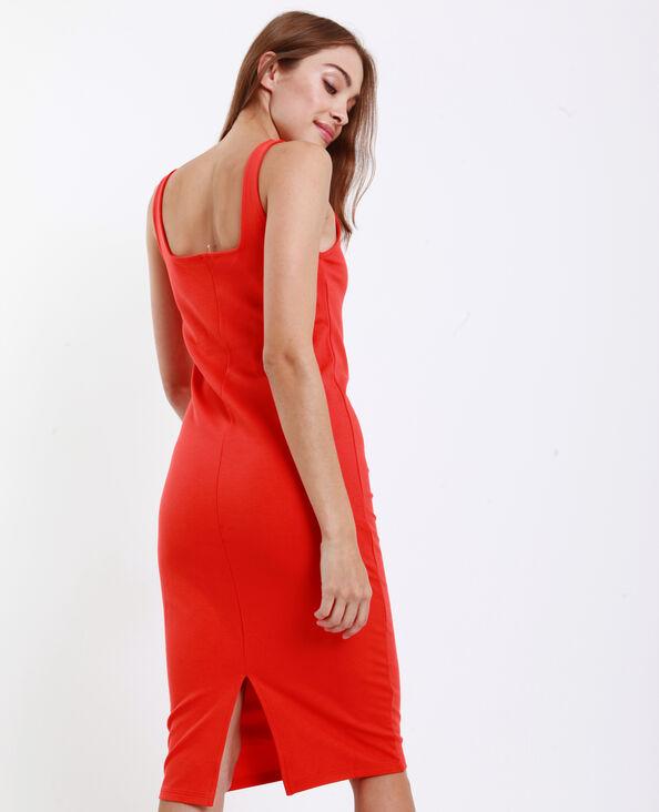 Strakke jurk oranje