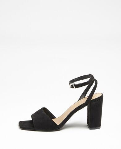 Sandalen met nubuckeffect zwart