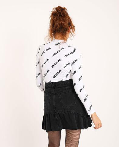 T-shirt met lange mouwen wit