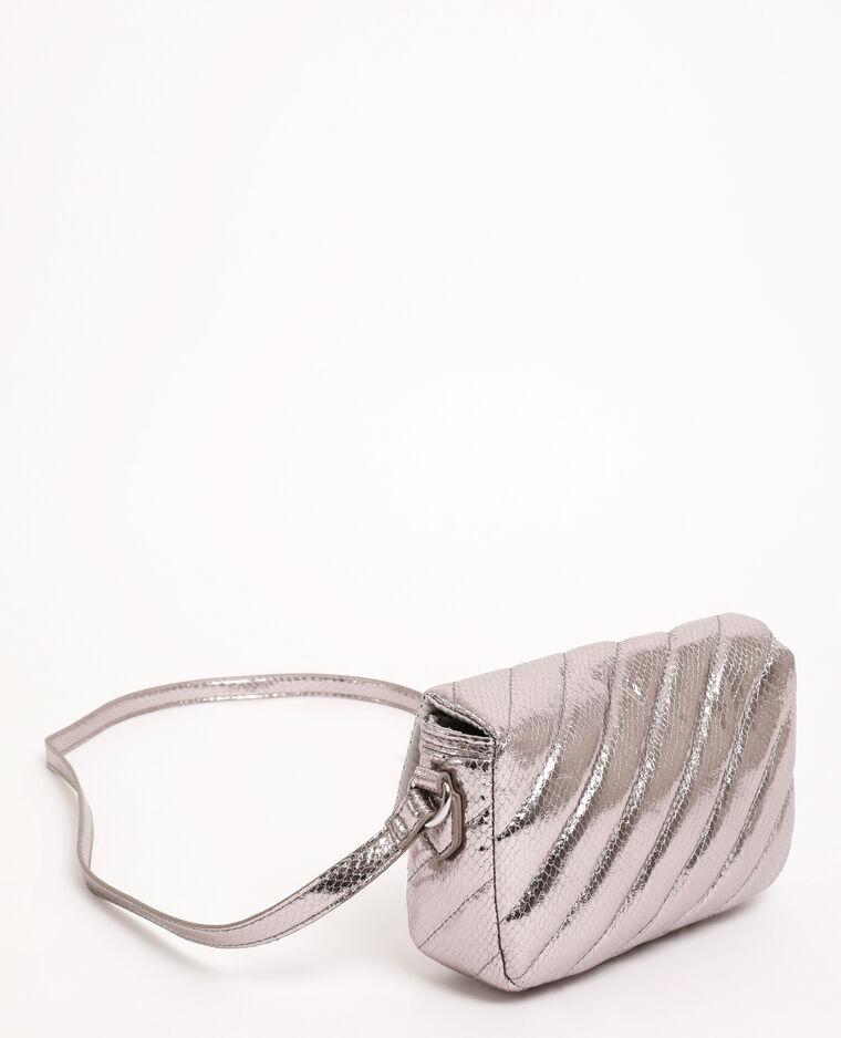 Gewatteerde handtas grijs