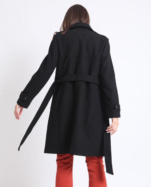 Manteau drap de laine noir 668aaf7e8e2b