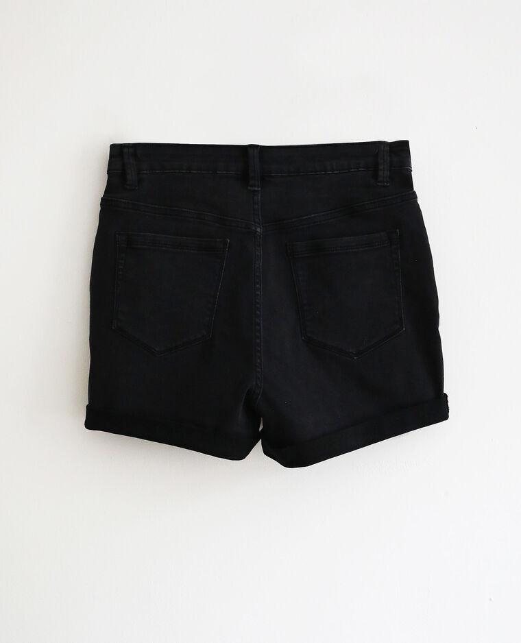 Jeansshort met hoge taille zwart - Pimkie