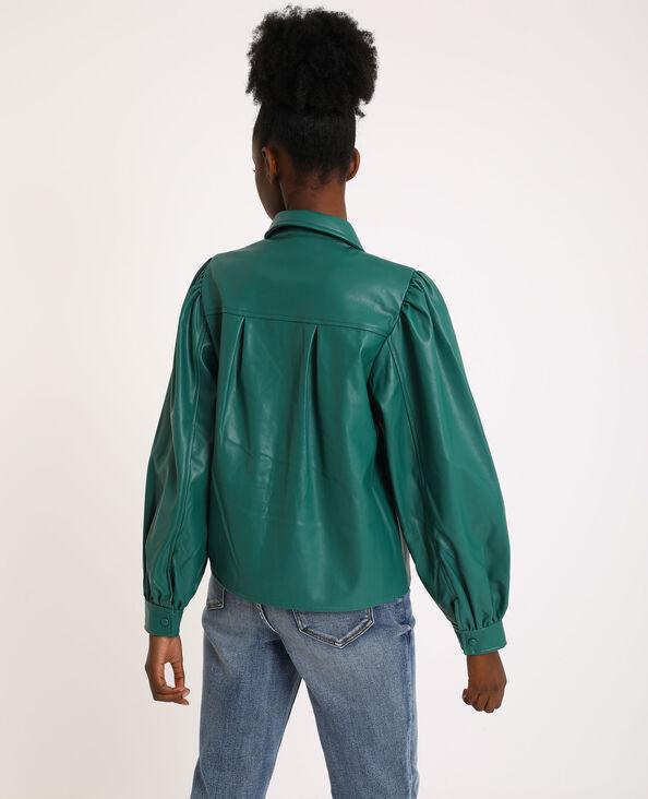 Hemd van kunstleer groen