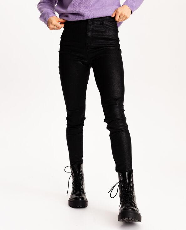 Pantalon 5 poches pailleté noir