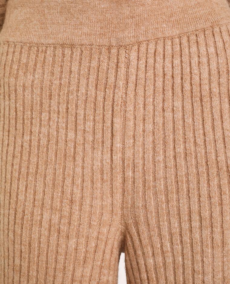 Gebreide broek beige