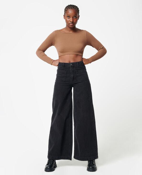 Jeans met baggy zwart - Pimkie