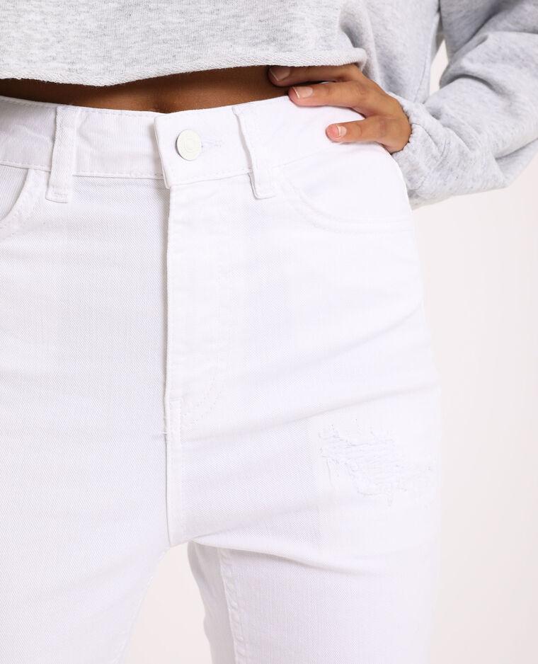 Jean skinny high waist écru