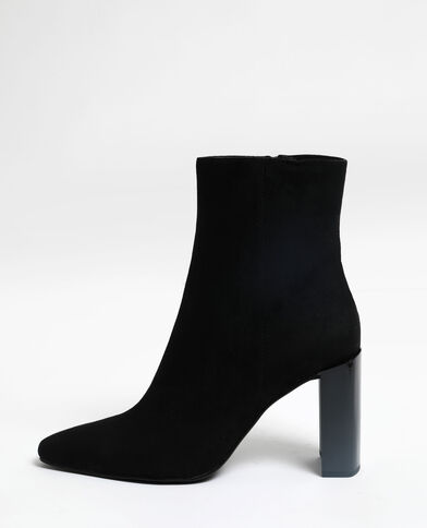 Bottines en microfibre noir
