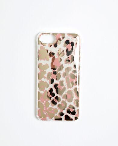 Hoesje met luipaardprint voor iPhone 6/6S/7/8 gebroken wit