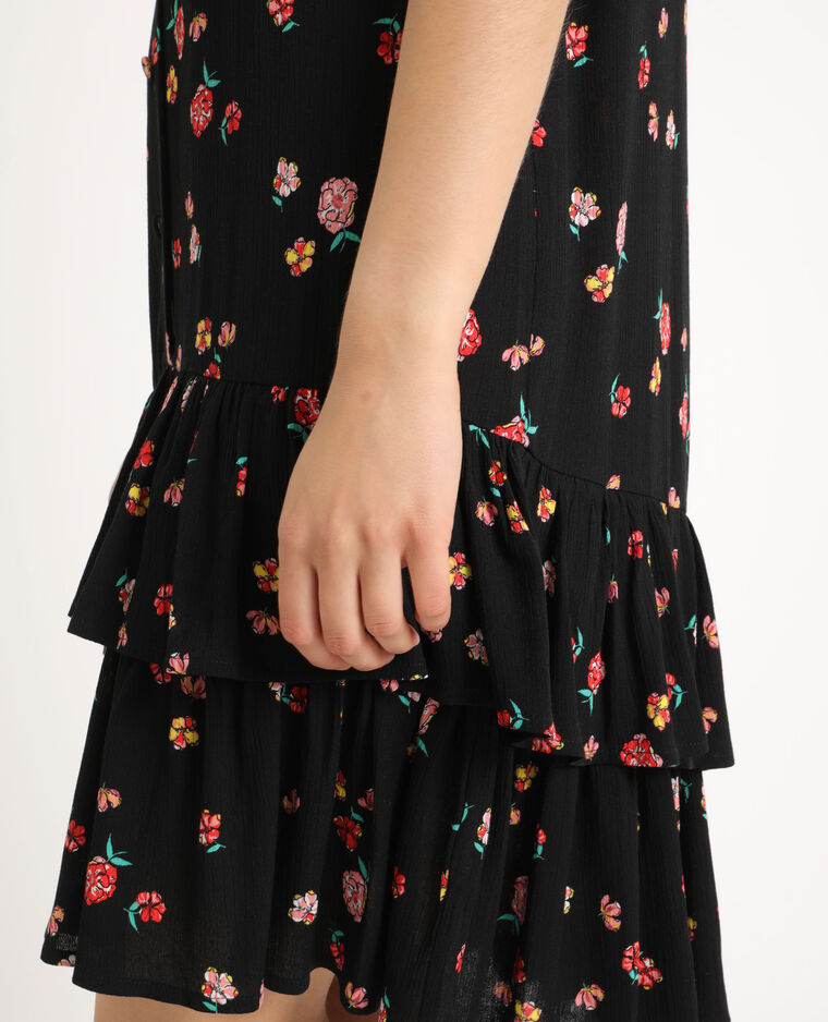 Robe à fleurs noir