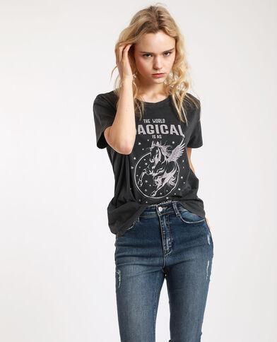 T-shirt met grafische print grijs
