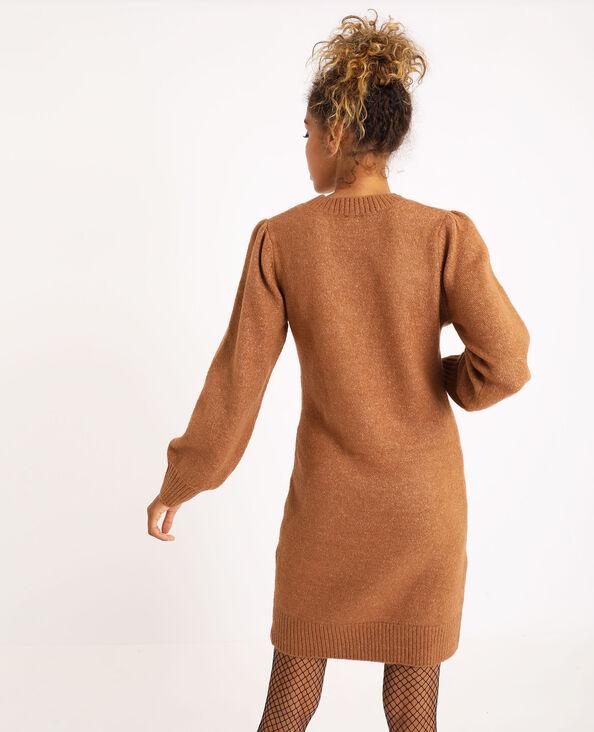 Trui-jurk karamel