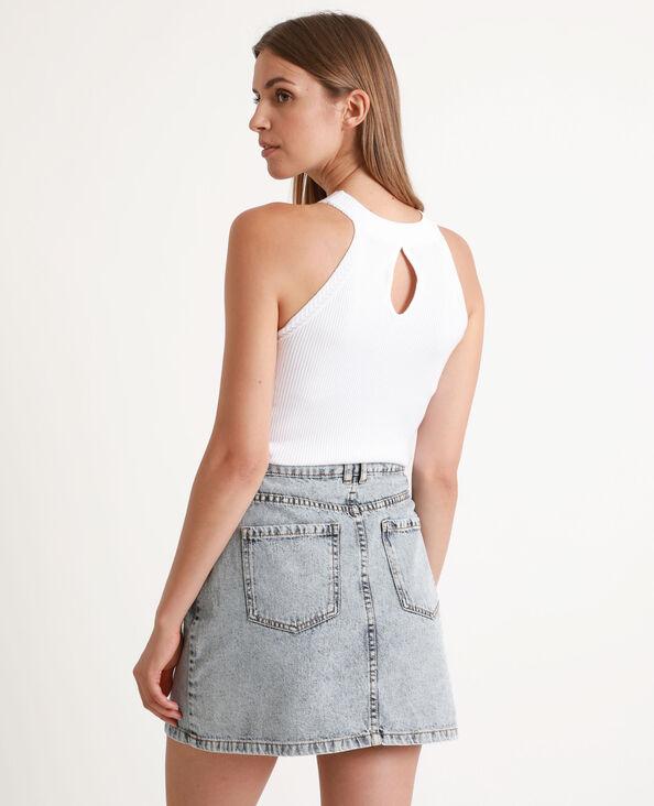 Shirt van tricot wit