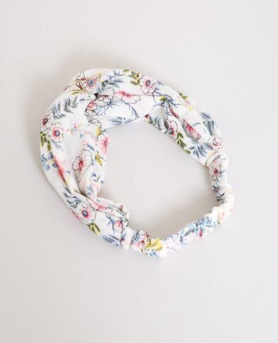 Fleurige hoofdband gebroken wit