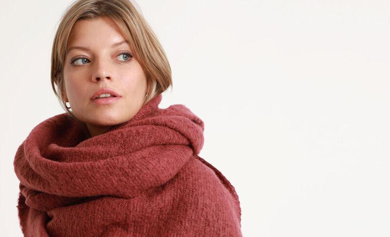 Zachte sjaal bordeauxrood