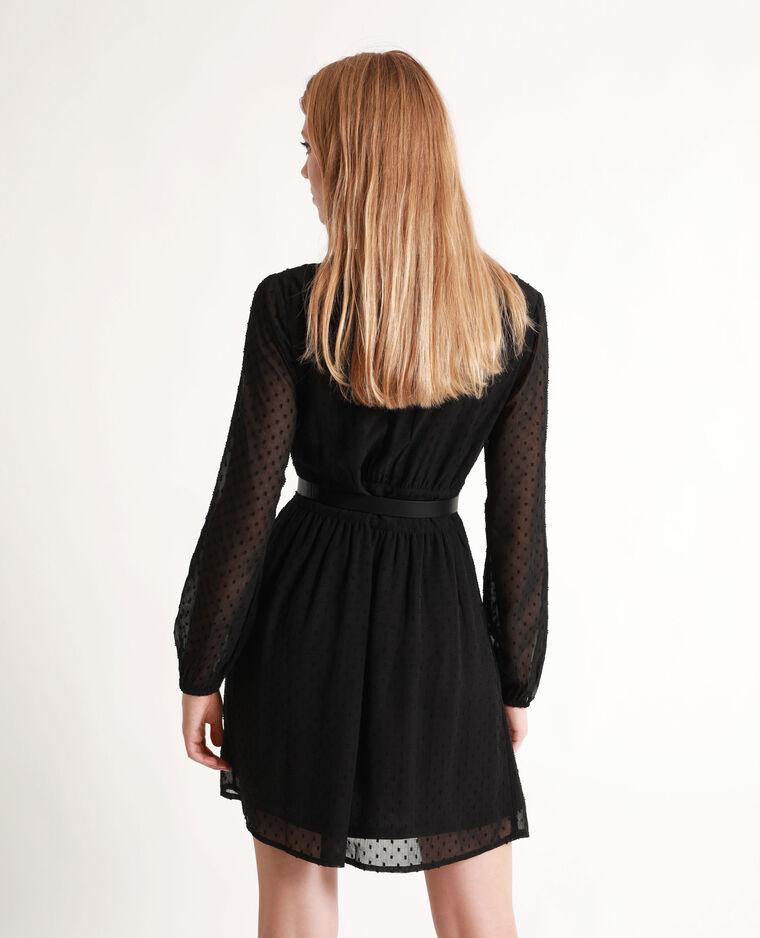 Robe en plumetis noir