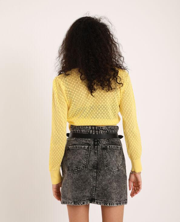 Gilet court jaune pâle