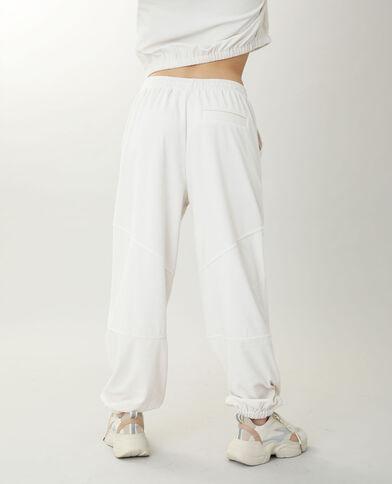 Pantalon de jogging velours blanc