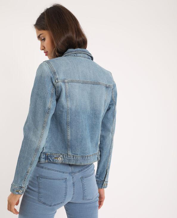 Jeansjasje verwassen blauw