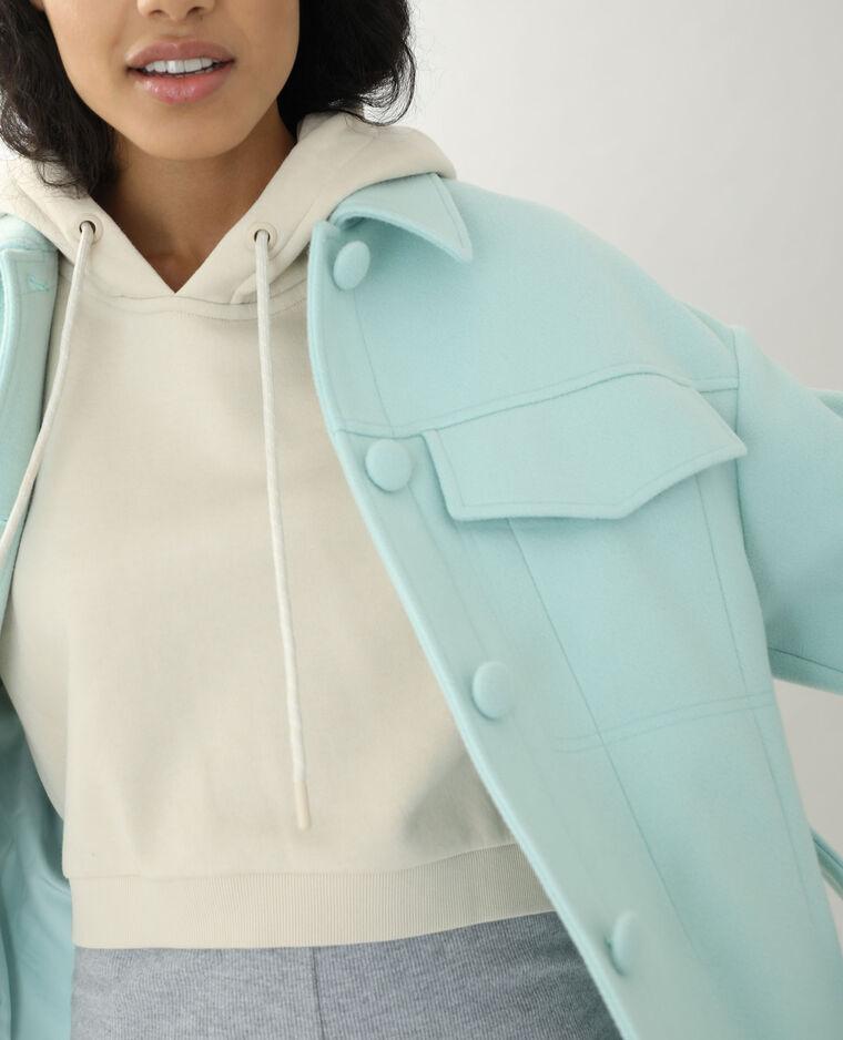 Manteau drap de laine vert