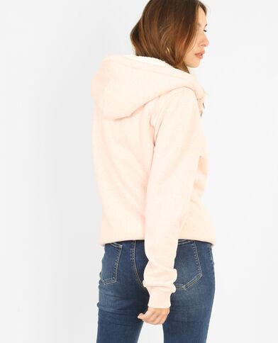 Gilet à capuche rose pâle