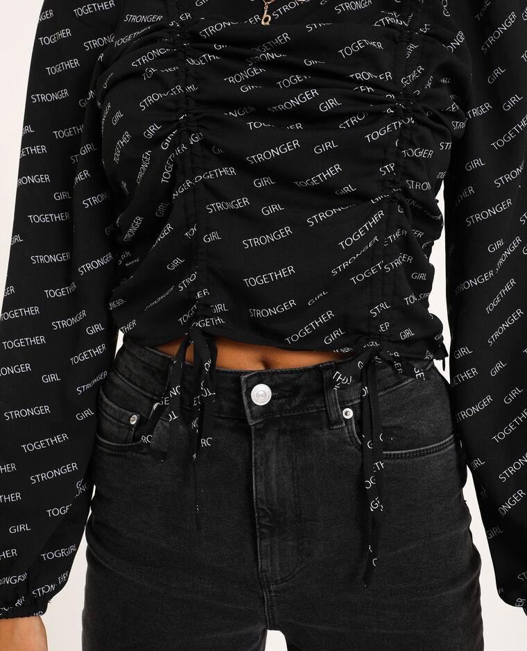 Blouse cropped noir