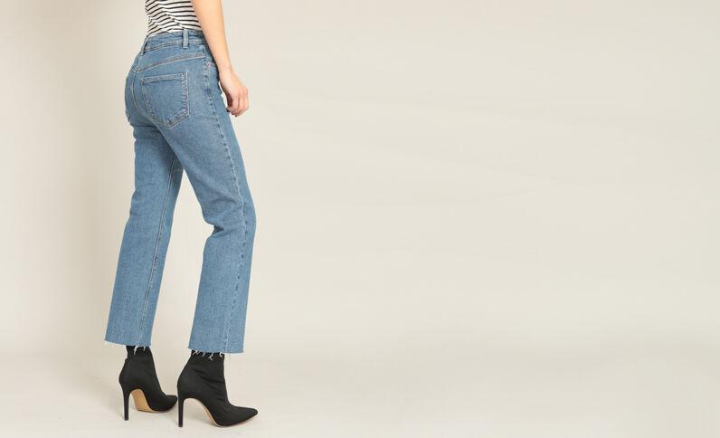 Rechte jeans blauw