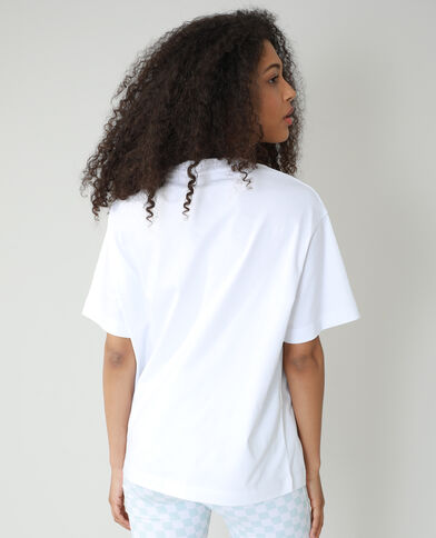 Oversized T-shirt met tekst wit - Pimkie
