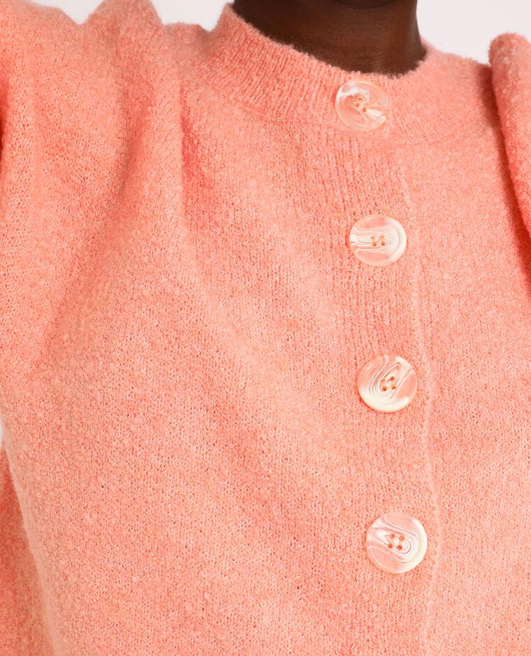 Fluffy vest Perzik