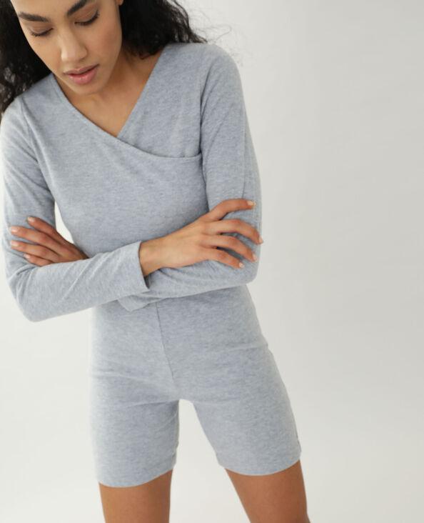 Ontzettend zachte short grijs