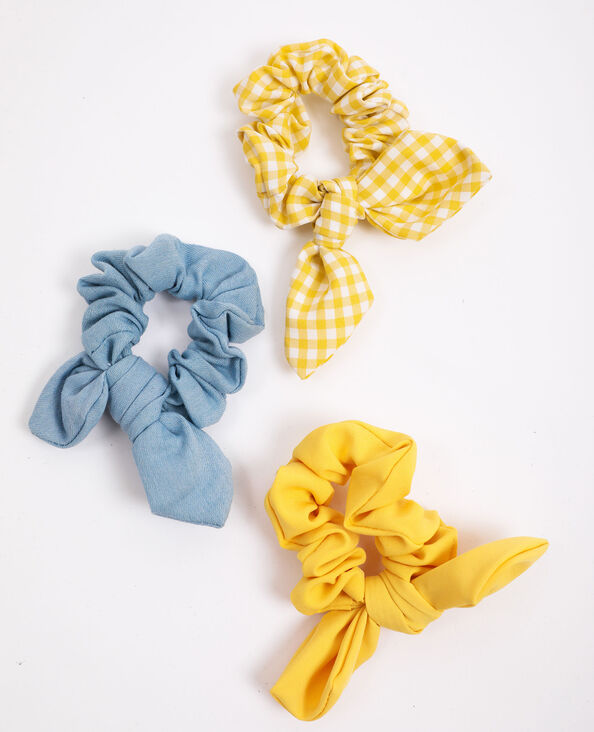 Set van 3 scrunchies geel