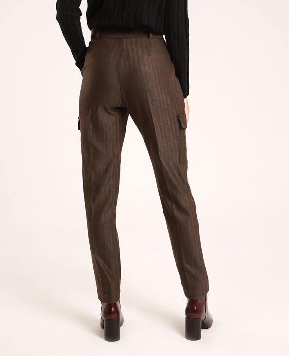 Pantalon à poches marron