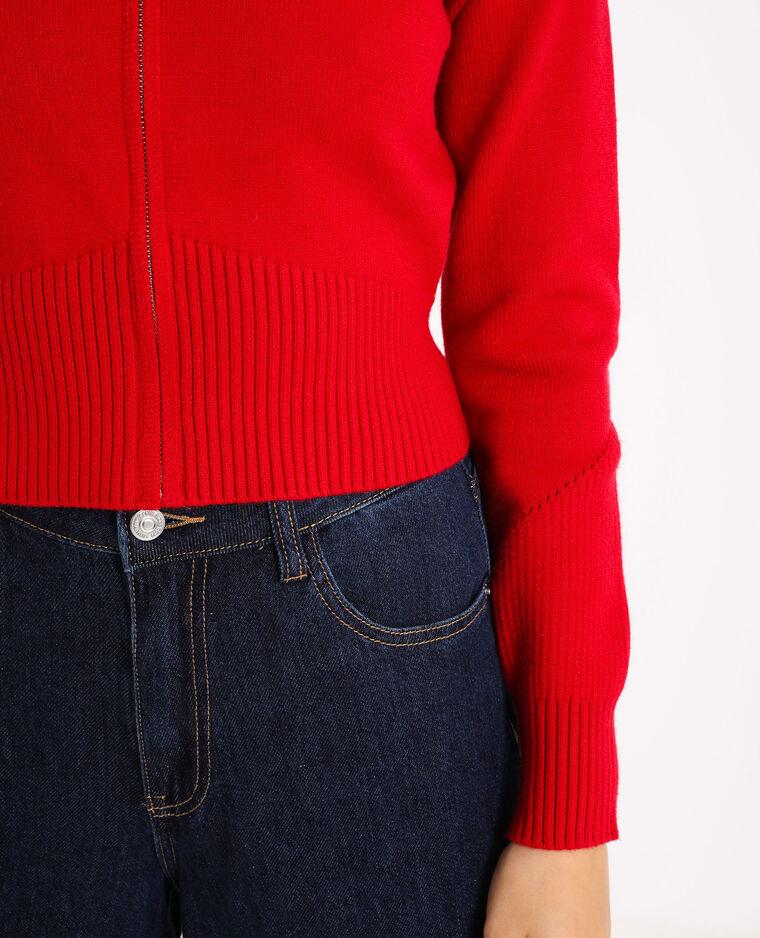 Vest met rits rood