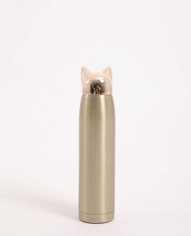Drinkfles kat goudkleurig
