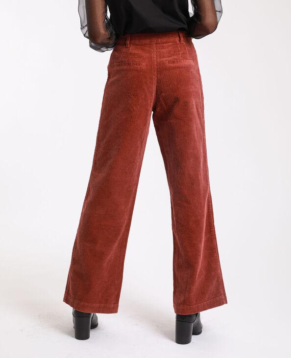 Fluwelen broek roestkleur