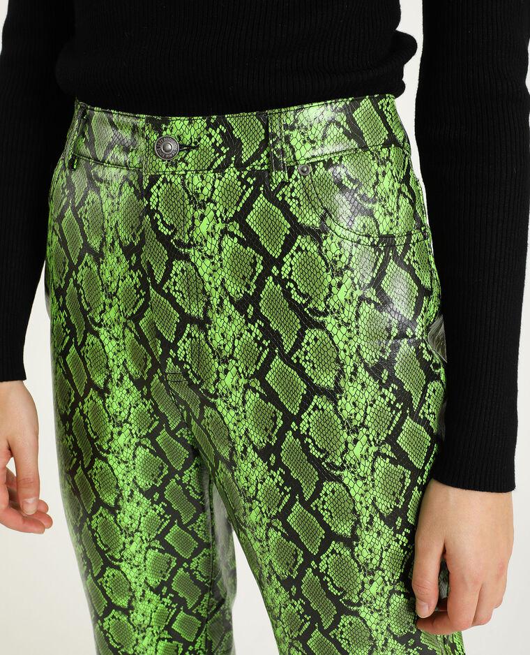 Pantalon simili cuir vert