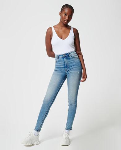 Skinny jeans denimblauw - Pimkie