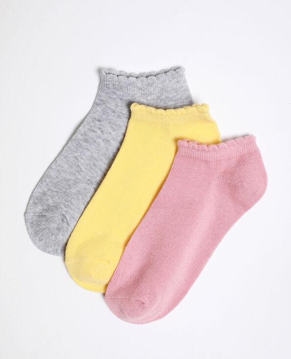 Chaussettes basses colorées gris