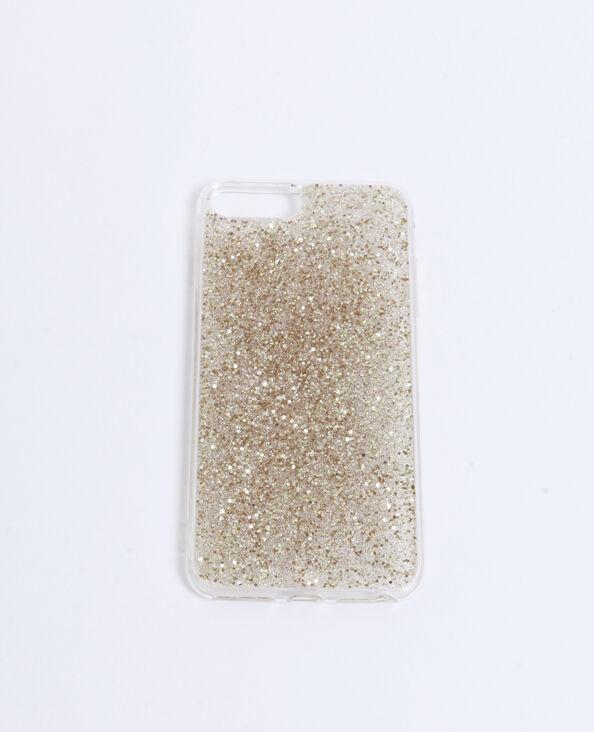 iPhone-hoesje met glitters goudkleurig