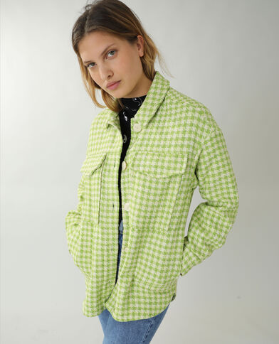 Surchemise en tweed vert - Pimkie