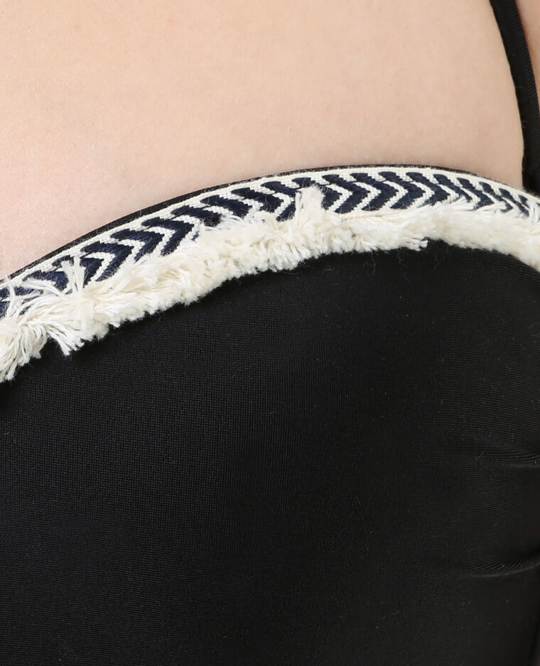 Bikinitop met biesje zwart